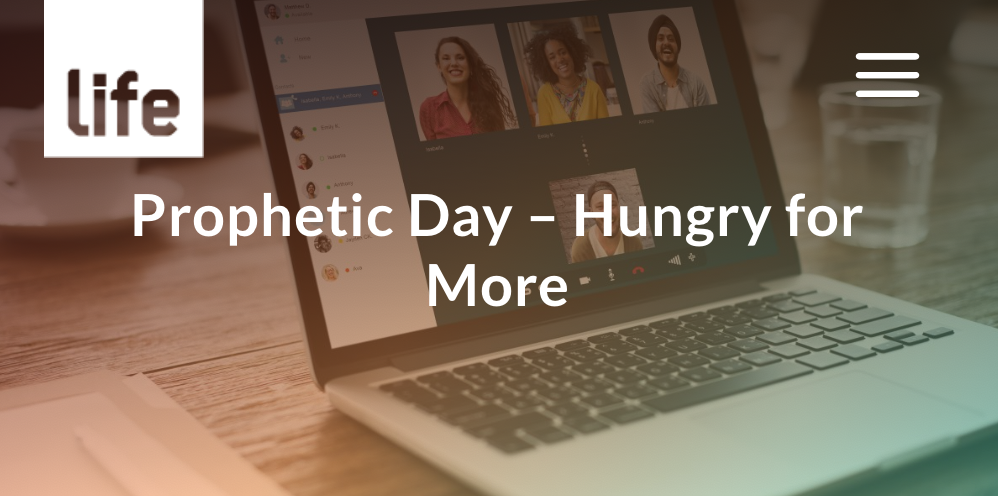 'Hungry For More' prophetic day – 26 Sept